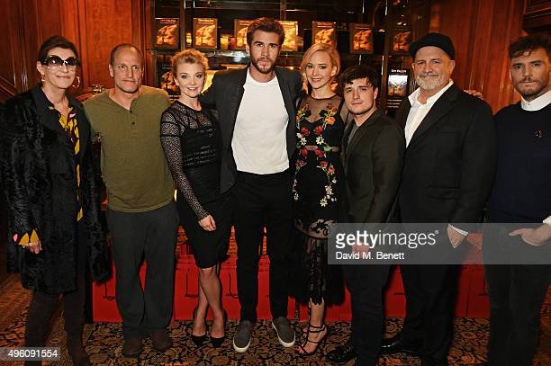 Martine Assouline Woody Harrelson Natalie Dormer Liam Hemsworth Jennifer Lawrence Josh Hutcherson Tim Palen and Sam Claflin attend the book launch of...
