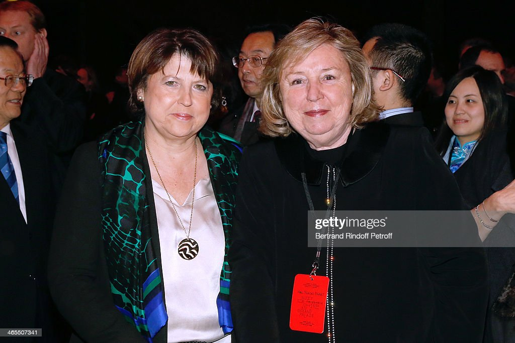 <a gi-track='captionPersonalityLinkClicked' href=/galleries/search?phrase=Martine+Aubry&family=editorial&specificpeople=590991 ng-click='$event.stopPropagation()'>Martine Aubry</a> and Maryvonne Pinault attend the 'Nuit De La Chine' - Opening Night at Grand Palais on January 27, 2014 in Paris, France.