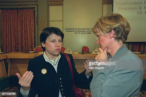 Martine Aubry and Nicole Notat