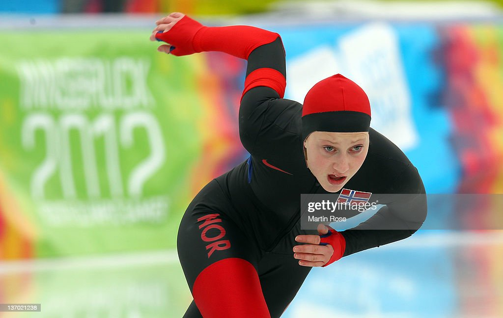 Martine Bruun of Norway competes during the women's 500m race at the Skating Oval during the Winter Youth Olympic Games on January 12, 2012 in Innsbruck, Austria.