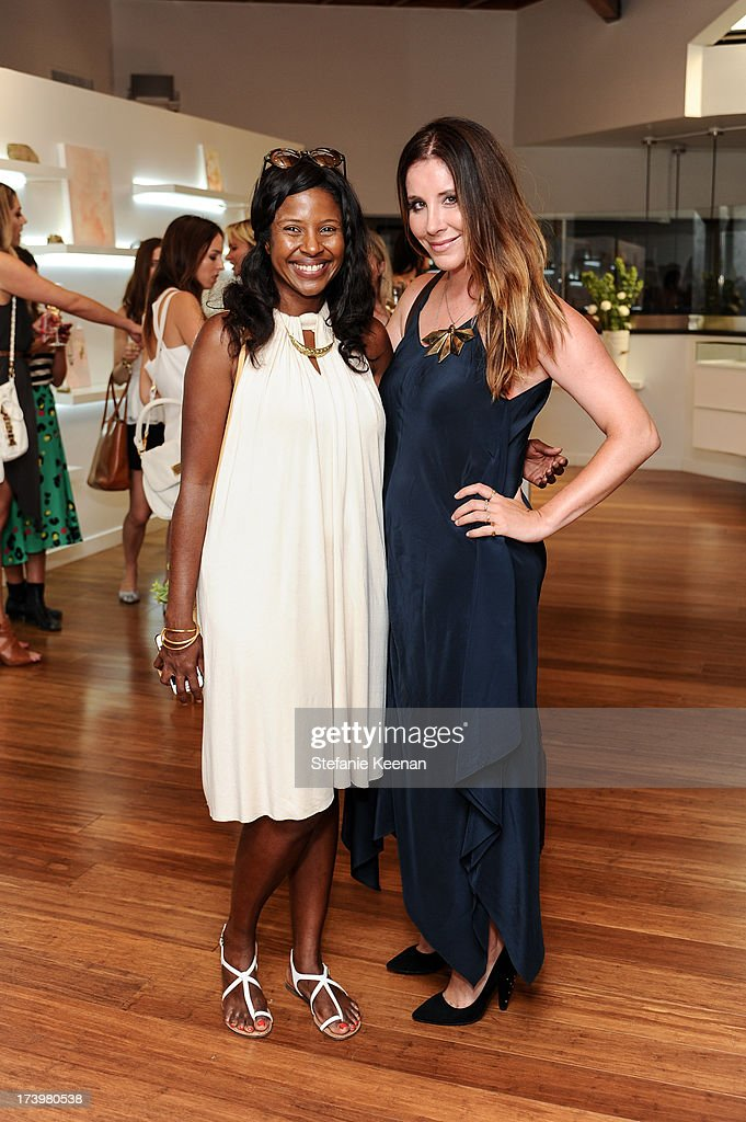 Martine Bury and Jennifer Egan attend JewelMint Celebrates The Launch Of Collective And Previews New Collections From Cher Coulter And CC Skye at on July 18, 2013 in Los Angeles, California.