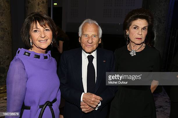 Martine Dassault and Jean D'Ormesson attend the 'Scopus Awards' 2013 at Espace Cambon Capucines on April 10 2013 in Paris France