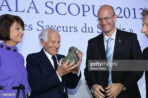 Martine Dassault Jean D'Ormesson and Shay Arkin attend the 'Scopus Awards' 2013 at Espace Cambon Capucines on April 10 2013 in Paris France