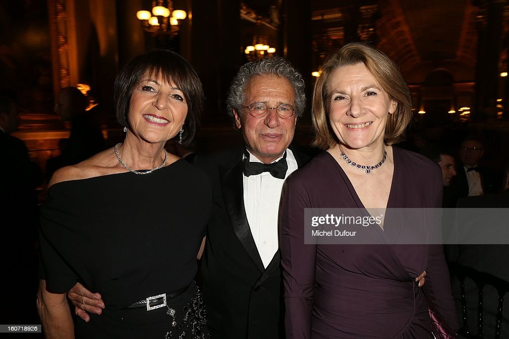 Martine Dassault, Laurent Dassault and Catherine Pegard attend the David Khayat Association 'AVEC' Gala Dinner at Chateau de Versailles on February 4, 2013 in Versailles, France.