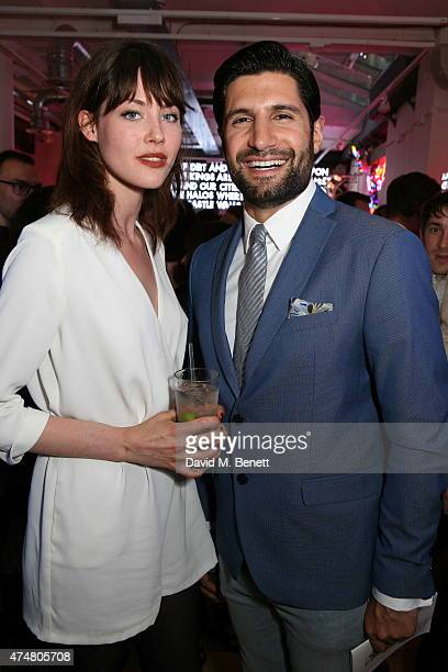 Martine Lervik and Kayvan Novak attend the Lights of Soho private view>> on May 26 2015 in London England