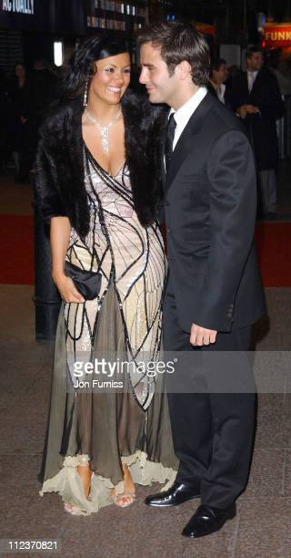 Martine McCutcheon and guest during 'Love Actually' London Premiere Arrivals at The Odeon Leicester Square in London United Kingdom