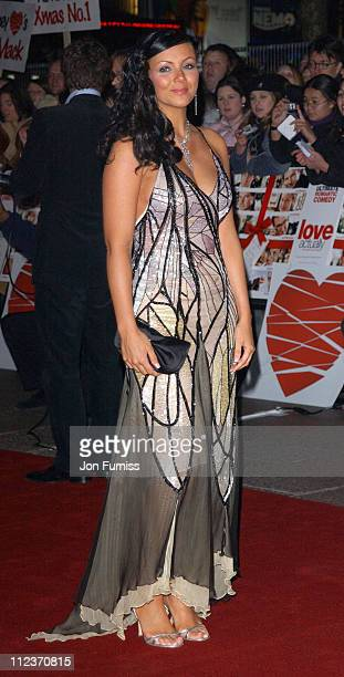 Martine McCutcheon during 'Love Actually' London Premiere Arrivals at The Odeon Leicester Square in London United Kingdom