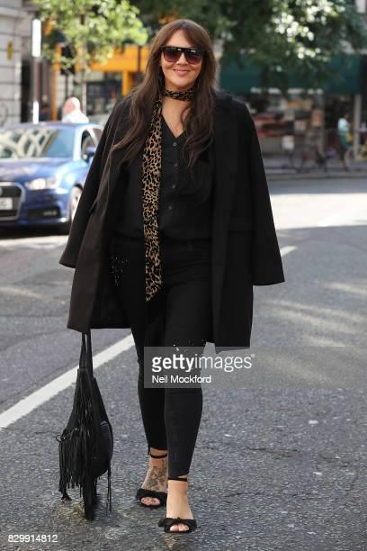 Martine McCutcheon seen leaving BBC Radio 2 on August 11 2017 in London England