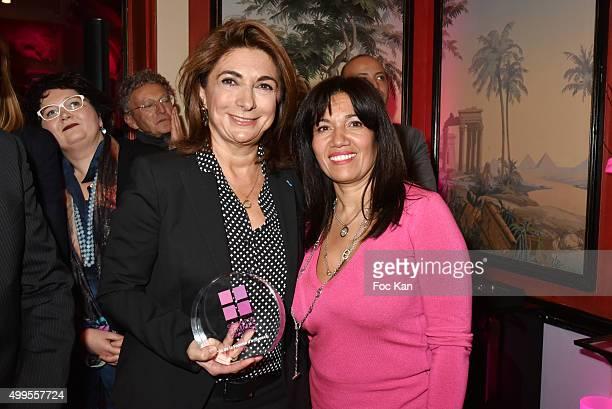 Martine Vassal and Samia Ghali attend the 'Prix de la Femme d'Influence 2015' Award Ceremony on December 1 2015 in Paris France