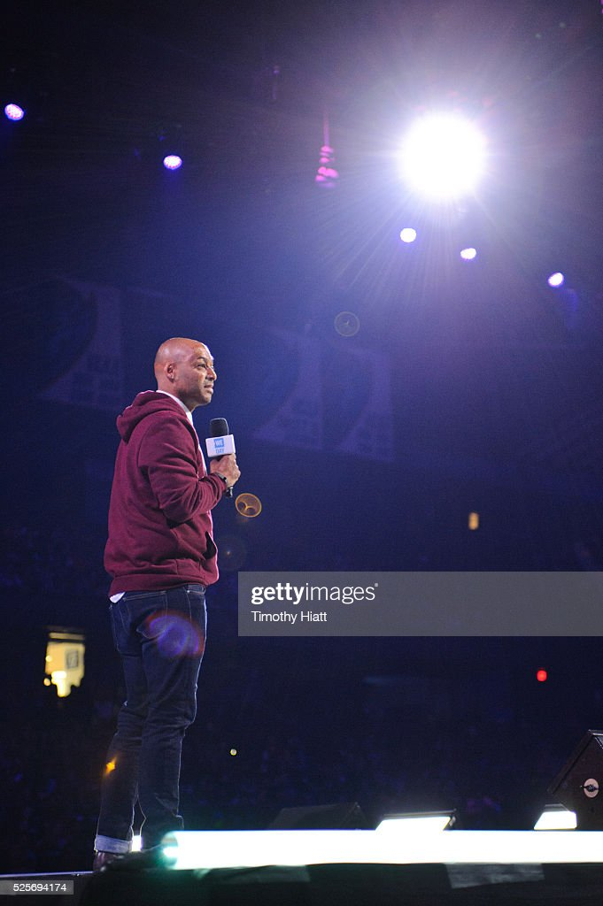 J.R. Martinez attends at WeDay in Illinois at Allstate Arena on April 28, 2016 in Chicago, Illinois.