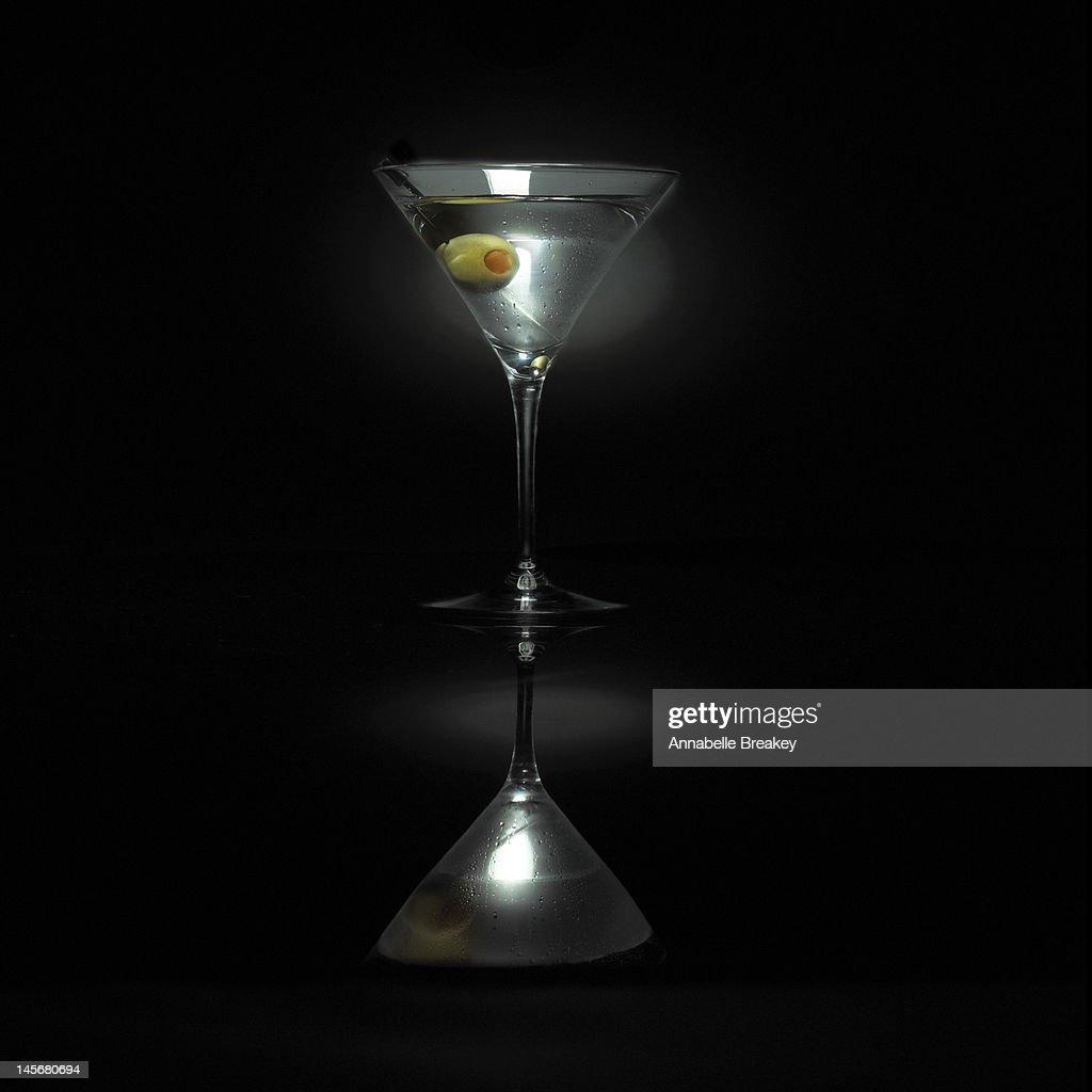 Martini Cocktail on Black