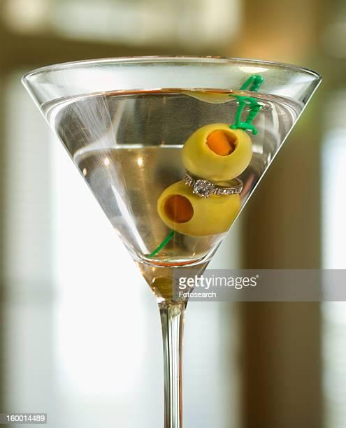 Martini Holding Engagement Ring
