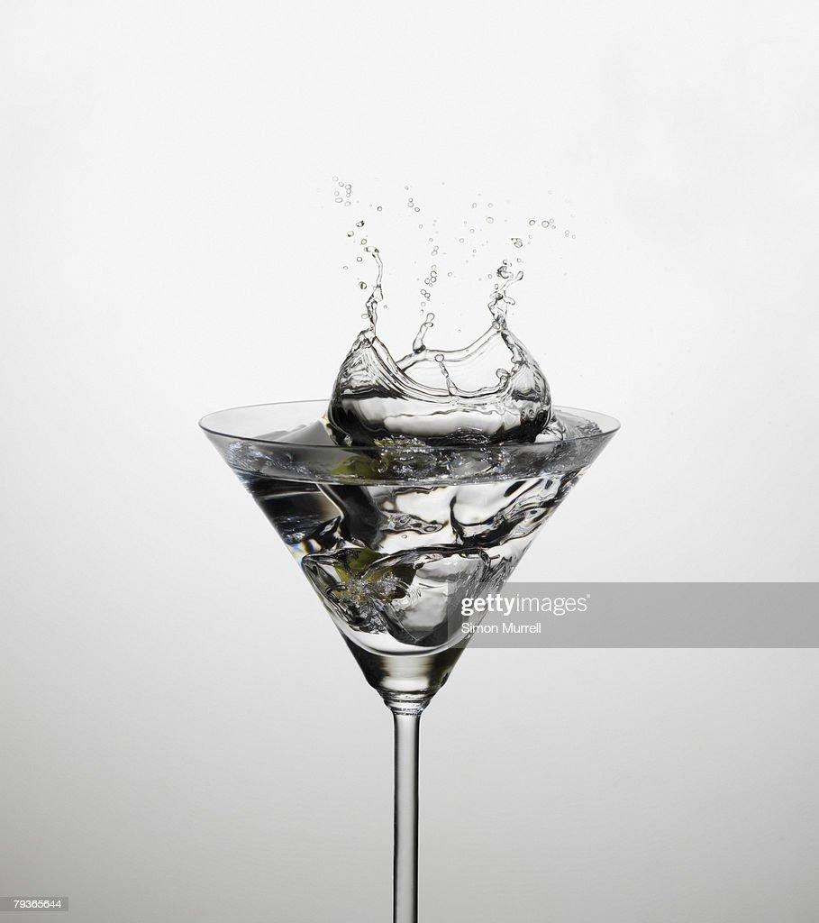 Martini indoors splashing