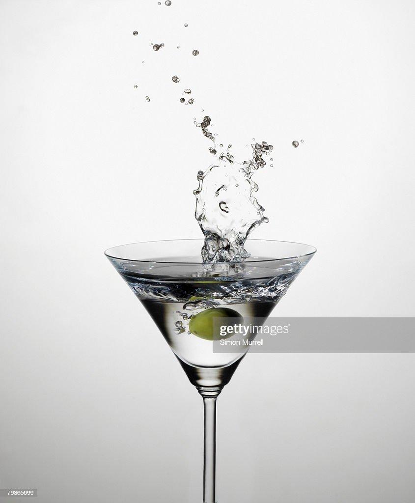 Martini splashing indoors