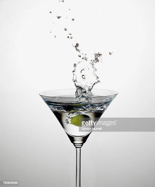 Martini splashing indoors