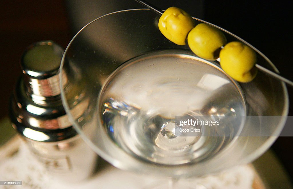 A $10000 martini with a diamond in the bottom is shown at the Algonquin Hotel December 6 2004 in New York City