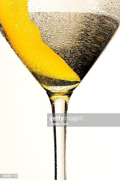 Martini with a lemon twist