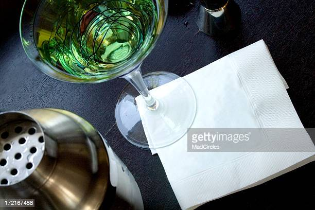 Martini with blank napkin