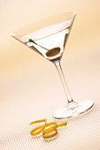 Martini with garnish