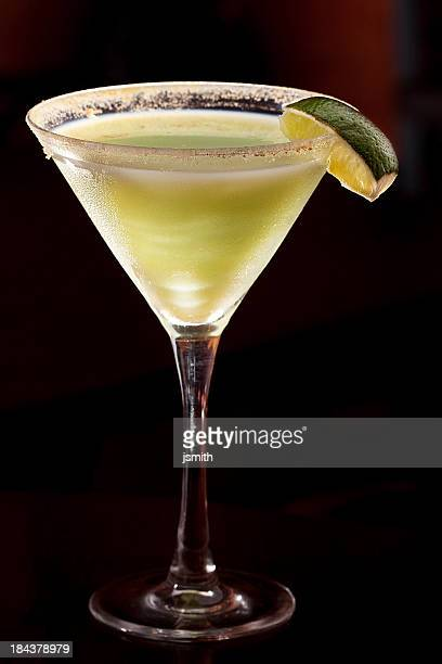 Martini With Lemon And Salt Garnish