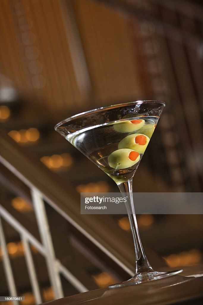 Martini with olives : Stock Photo