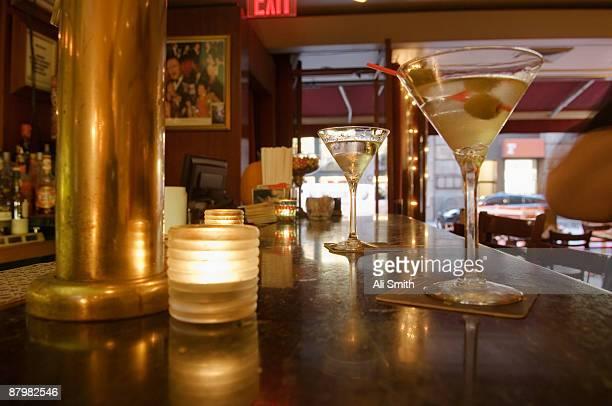 Martinis on bar
