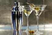 Martinis avec shaker