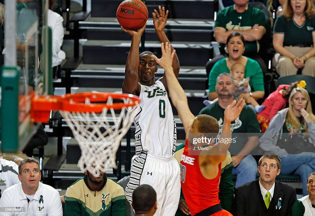 Martino Brock #0 of the South Florida Bulls shoots against the Syracuse Orange during the game at the Sun Dome on January 6, 2013 in Tampa, Florida.