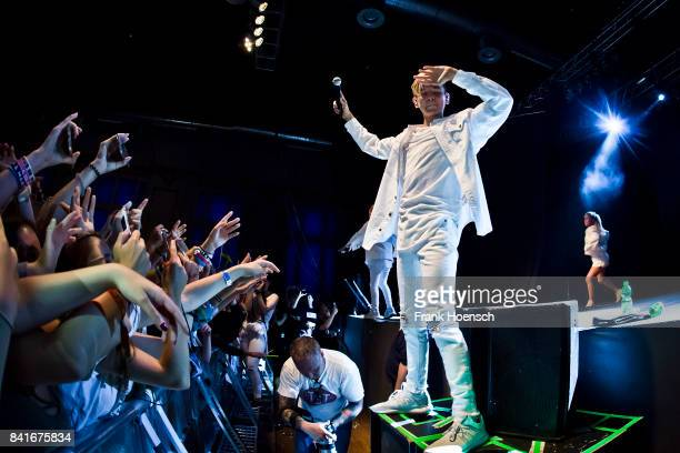 Martinus Gunnarsen of the Norwegian band Marcus Martinus performs live on stage during a concert at the Huxleys on September 1 2017 in Berlin Germany
