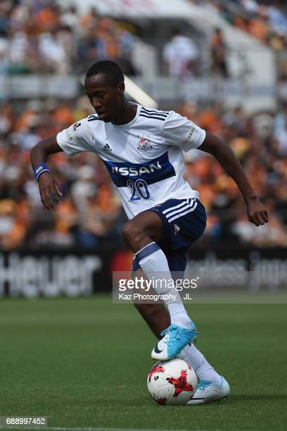 Martinus of Yokohama FMarinos in action during the JLeague J1 match between Shimizu SPulse and Yokohama FMarinos at IAI Stadium Nihondaira on May 27...
