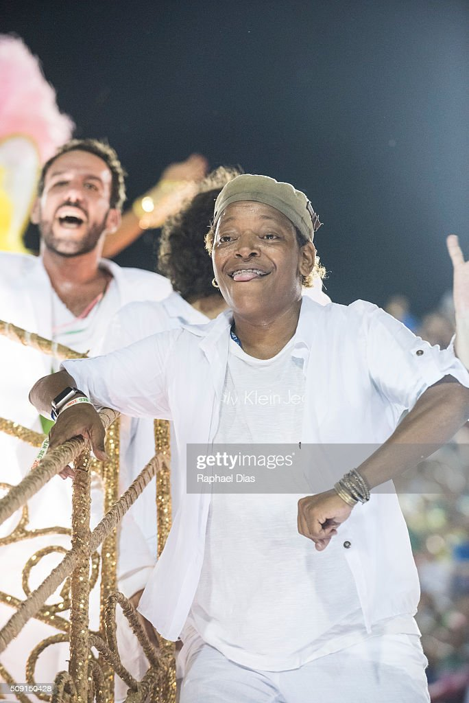 Mart'nalia attends to the Rio Carnival in Sambodromo on February 8, 2016 in Rio de Janeiro, Brazil. Despite the Zika virus epidemic, thousands of tourists gathered in Rio de Janeiro for the carnival.