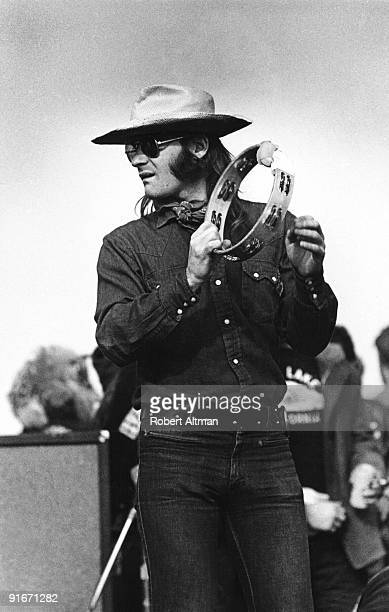 Marty Balin of the Jefferson Airplane right before he gets knocked unconscious by a Hells Angel onstage at The Altamont Speedway on December 6 1969...
