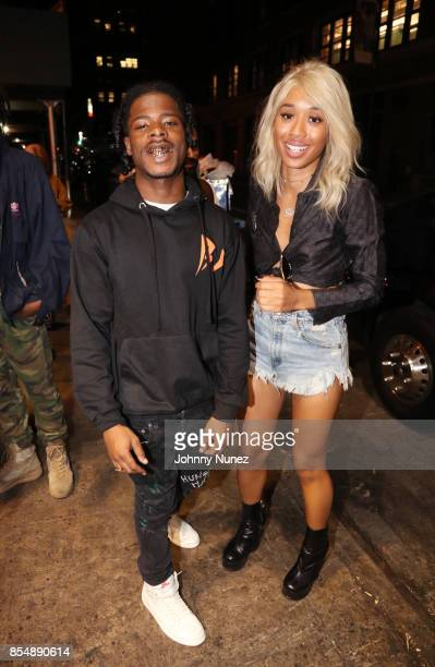 Marty Baller and Kitty Cash attend the A$AP Mob After Party at Highline Ballroom on September 25 2017 in New York City