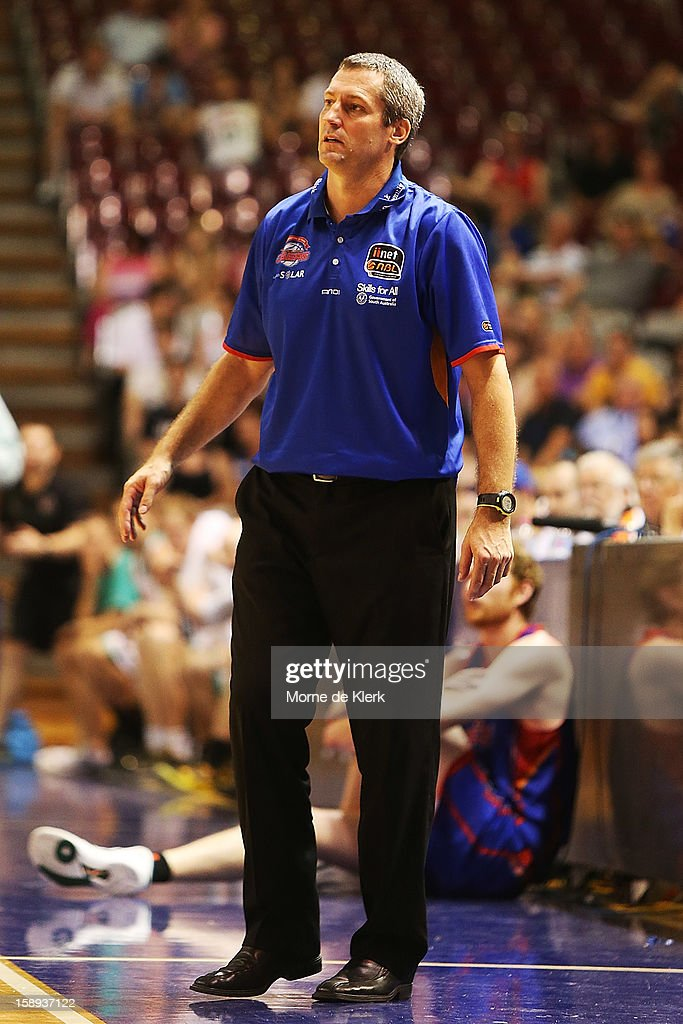 Marty Clarke of Adelaide reacts during the round 13 NBL match between the Adelaide 36ers and the Townsville Crocodiles at Adelaide Arena on January 4, 2013 in Adelaide, Australia.