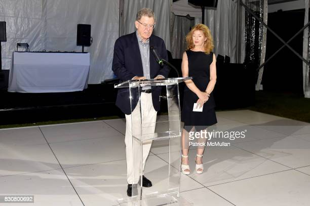 Marty Cohen and April Gornik attend the Guild Hall 2017 Summer Gala Celebrating AVEDON'S AMERICA at Guild Hall on August 11 2017 in East Hampton New...