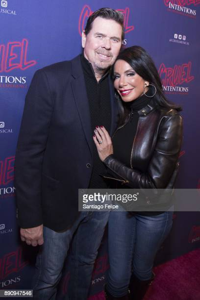 Marty Gaffery and Danielle Staub attend 'Cruel Intentions' The 90's Musical Experience at Le Poisson Rouge on December 11 2017 in New York City
