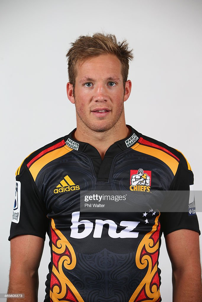 Marty McKenzie of the Chiefs poses during a Chiefs Super Rugby headshots session on January 29, 2014 in Hamilton, New Zealand.