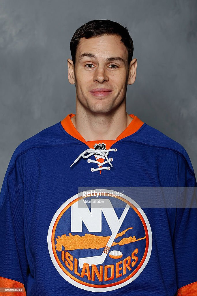 Marty Reasoner of the New York Islanders poses for his official headshot for the 20122013 season on January 13 2013 at the Nassau Coliseum in...