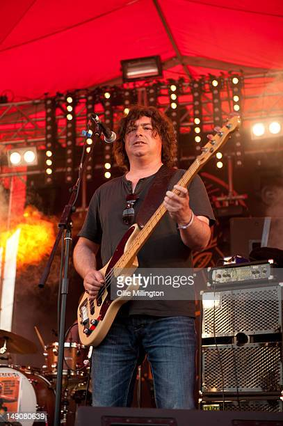 Martyn Campbell of The Lightening Seeds performs on the Jagermeister stage during Splendour Festival at Wollaton Park on July 21 2012 in Nottingham...