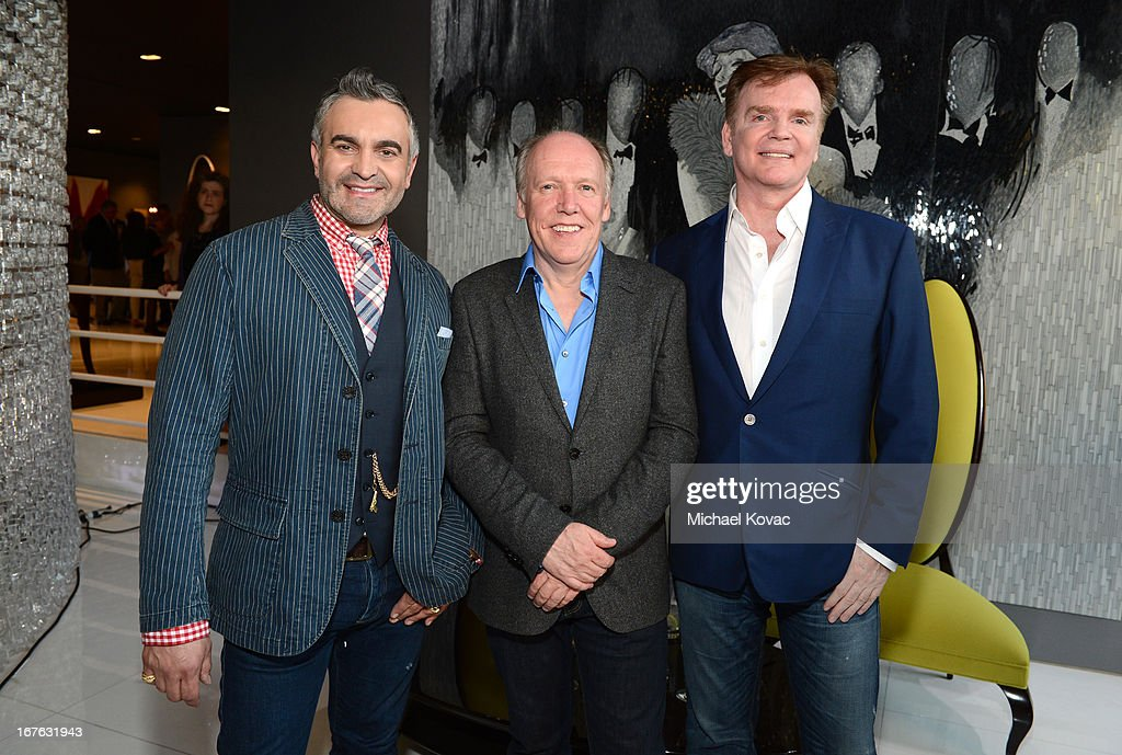 Martyn Lawrence Bullard, Jaguar Design Director Ian Callum and designer Christopher Guy Harrison attend the BritWeek Christopher Guy event with official vehicle sponsor Jaguar on April 26, 2013 in Los Angeles, California.