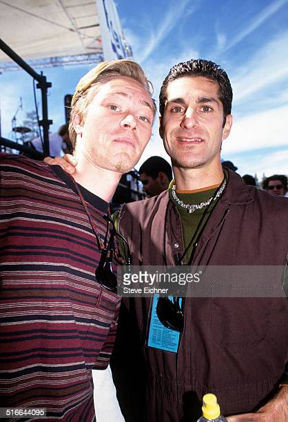 Martyn Lenoble and Perry Farrell of Porno for Pyros at Lifebeat benefit New York March 12 1995
