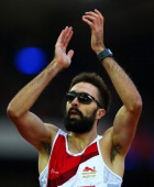 Martyn Rooney of England after competing in the Men's 400 metres semifinal at Hampden Park during day six of the Glasgow 2014 Commonwealth Games on...