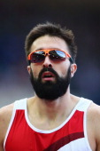 Martyn Rooney of England looks on after he competes in the Men's 400 metres heats at Hampden Park during day five of the Glasgow 2014 Commonwealth...
