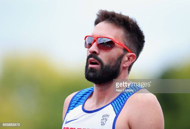 Martyn Rooney of Great Britain after the Mens 400m race during the Muller Grand Prix Birmingham meeting at Alexander Stadium on August 20 2017 in...