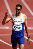 Martyn Rooney of Great Britain and Northern Ireland crosses his fingers after the Men's 400 metres hurdles heats during day one of the 22nd European...