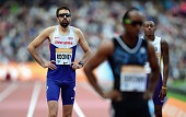 Martyn Rooney of Great Britain prepares to compete in the Mens 400m during day two of the Sainsbury's Anniversary Games at The Stadium Queen...