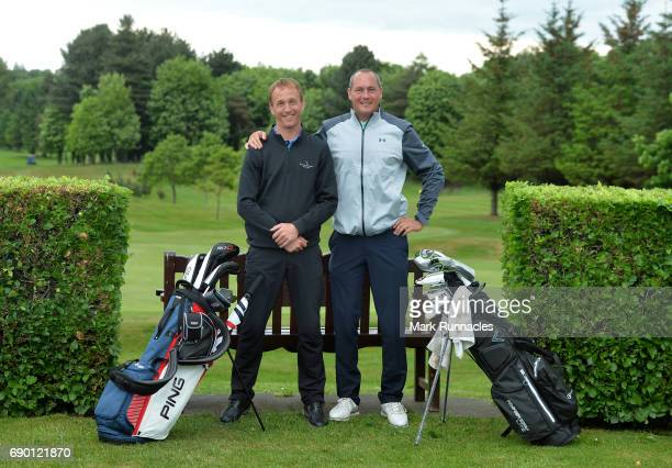 Martyn Stubbings and Jonathan Stacey of Rockliffe Hall Golf Club winners of the Golfbreakscom PGA Fourball Championship Scottish Qualifier pose for a...