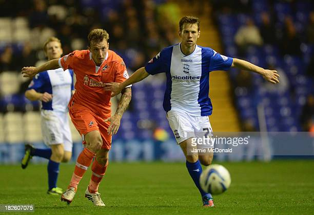 Martyn Woolford of Millwall battles with Jonathan Spector of Birmingham city during the Sky Bet Championship match between Birmingham City and...