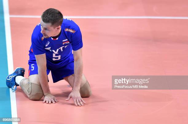 Martynyuk Roman during the FIVB Volleyball World League 2017 match between Poland and Russia at Spodek on June 15 2017 in Katowice Poland