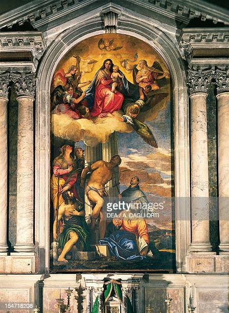 Martyrdom of St Sebastian by Paolo Caliari known as Veronese the altarpiece in St Sebastian's Church Venice Italy 16th century